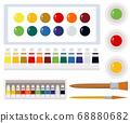 Art tools watercolor painting tools illustration 68880682