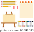 Art tools paints painting tools illustration 68880683