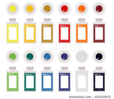 Art tools watercolor painting tools illustration 68880685