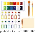Art tools watercolor painting tools illustration 68880687