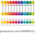 Art Tools Watercolor Oil Paint Tube Crayon Crayon Color Pattern Illustration 68880932