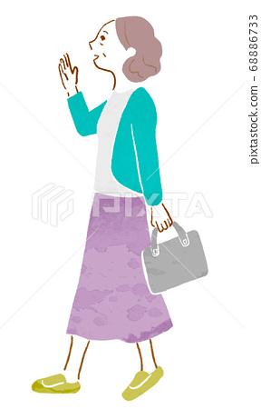 노인, 여성, 여자 68886733