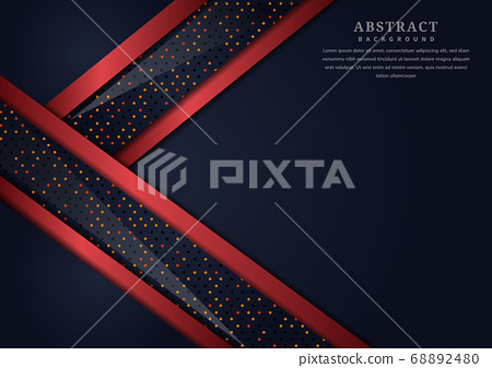 Abstract dark blue geometric overlapping layer 68892480