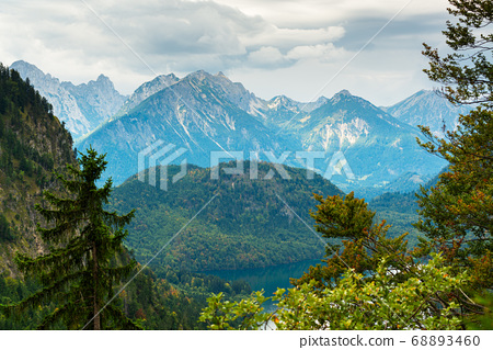 Bavarian Alps landscape in Fussen, Germany 68893460