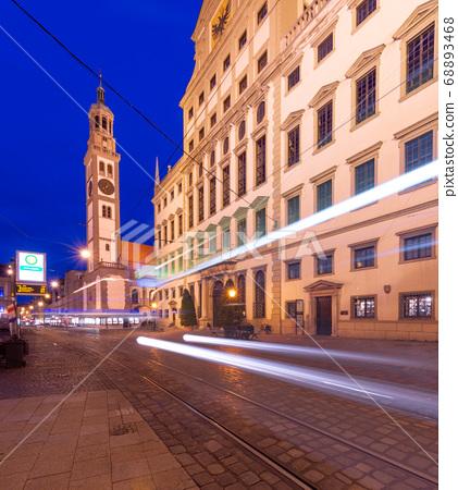Augsburg, Germany at Rathausplatz 68893468