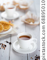 Cup of tea on table 68895010