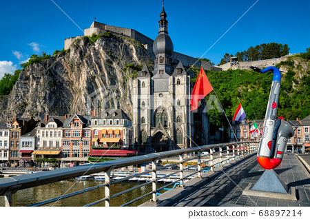 View of picturesque Dinant town. Belgium 68897214