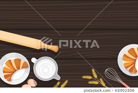 Bread Food Utensil on Cooking Wooden Table Kitchen 68902806
