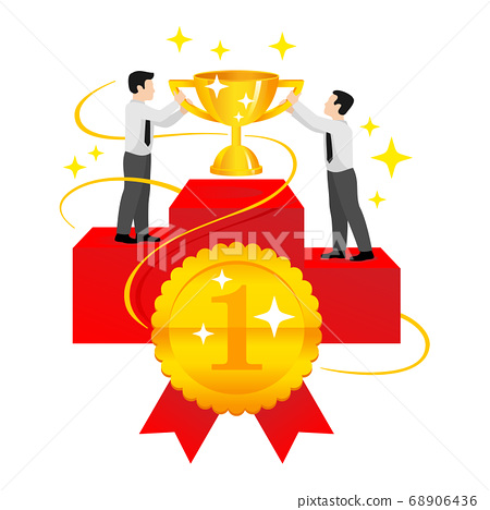 First place award - people on pedestal 68906436