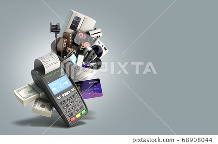 concept of online ordering of home appliances the 68908044