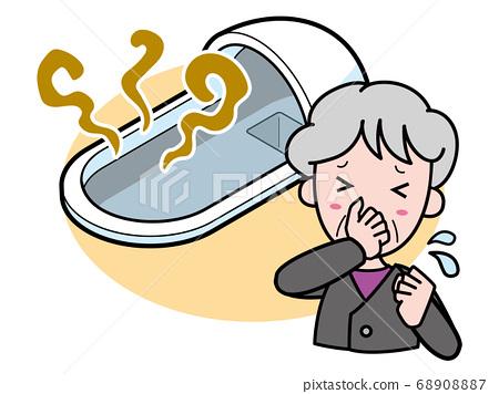 被濃濃的日式廁所困擾的奶奶 68908887