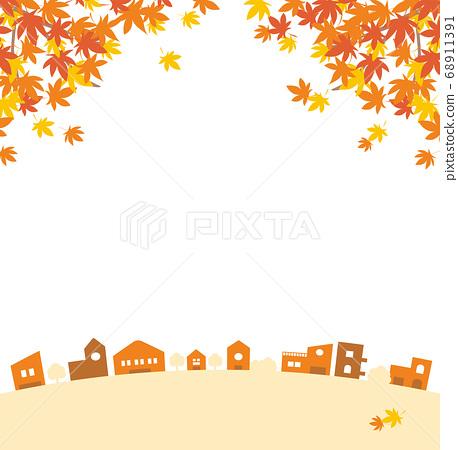 秋天的街道_枫广场 68911391