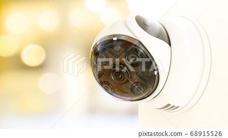 Modern security CCTV camera 68915526