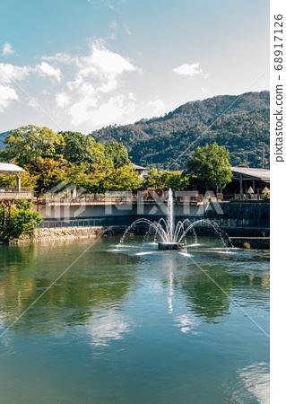 Okazaki Fountain and river in Kyoto, Japan 68917126