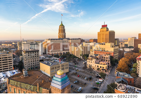 San Antonio, Texas, USA downtown city skyline 68922890