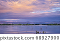 summer dawn over Boyd Lake and Front Range of 68927900