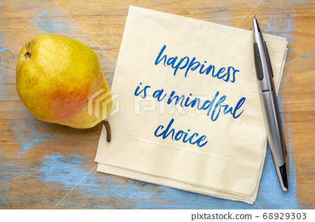 happiness is a mindful choice inspirational note 68929303