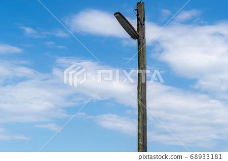 전주 푸른 하늘 나무 복사 공간 68933181