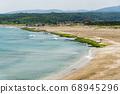 Coastal stone trench of Laomei coast in New Taipei, Taiwan 68945296