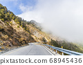 mountain of asphalt road in Hehuan mountain, Taiwan, Asia.  Taroko National Park is one of Taiwan's most popular tourist attractions. 68945436