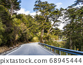 mountain of asphalt road in Hehuan mountain, Taiwan, Asia.  Taroko National Park is one of Taiwan's most popular tourist attractions. 68945444