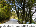 mountain of asphalt road in Hehuan mountain, Taiwan, Asia.  Taroko National Park is one of Taiwan's most popular tourist attractions. 68945447