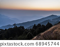 majestic of mountains landscape. Hehuan Mountain in Taiwan, Asia. Taroko National Park is one of Taiwan's most popular tourist attractions. 68945744