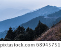 majestic of mountains landscape. Hehuan Mountain in Taiwan, Asia. Taroko National Park is one of Taiwan's most popular tourist attractions. 68945751