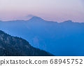 majestic of mountains landscape. Hehuan Mountain in Taiwan, Asia. Taroko National Park is one of Taiwan's most popular tourist attractions. 68945752