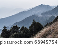 majestic of mountains landscape. Hehuan Mountain in Taiwan, Asia. Taroko National Park is one of Taiwan's most popular tourist attractions. 68945754
