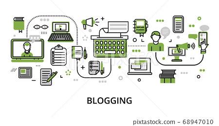 Infographic greenery Blogging concept 68947010