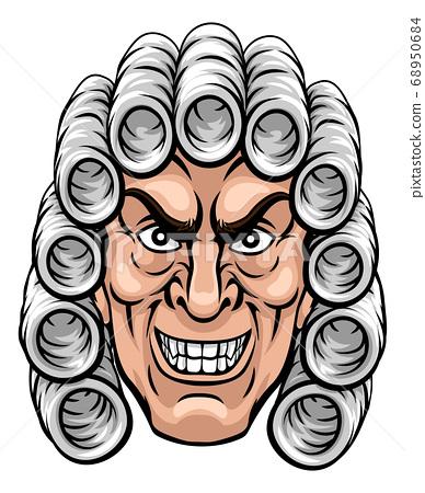 Scary Judge Cartoon Character 68950684