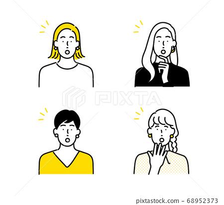Women icon set 68952373