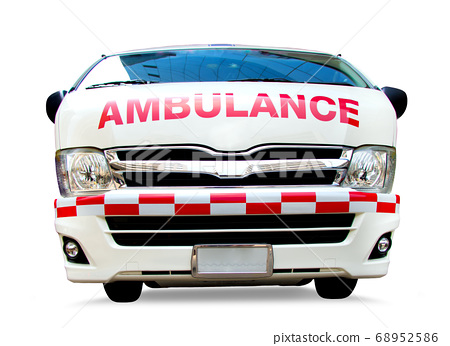Ambulance car, front view. Emergency service van, 68952586