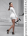 Lovely lady wearing ? white dress 68955442
