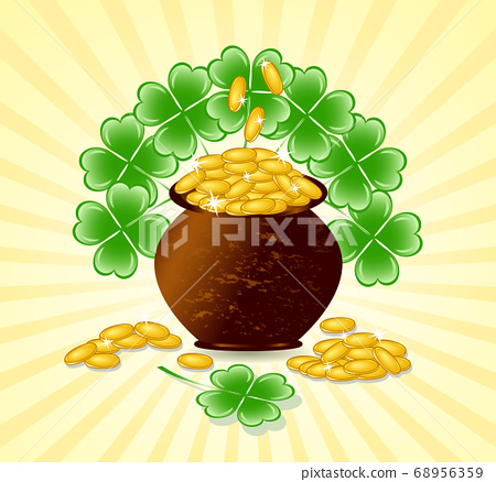 Vector illustration of a  St. Patrick day theme 68956359