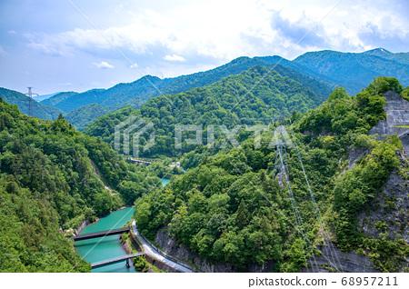 염소 사와 댐 주변 경치 타니 연봉 奥利根 군마현 미나 카미 정 68957211