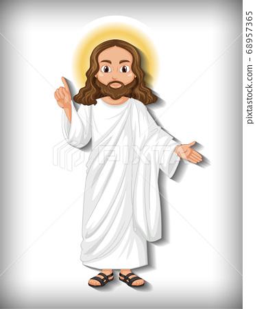 Isolated jesus cartoon character 68957365