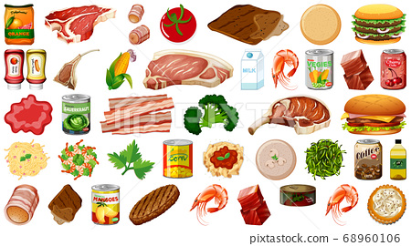Set of food isolated 68960106