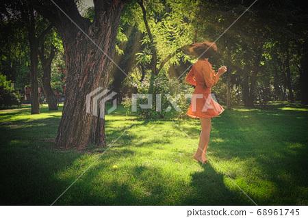 summertime girl park dance 68961745