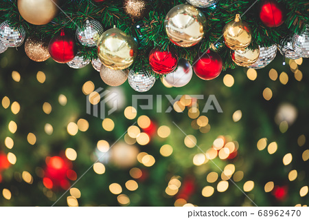 Closeup of decorate ornament on  Christmas tree 68962470