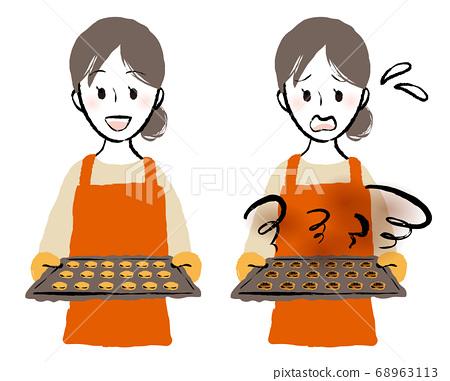 女人烘烤餅乾 68963113