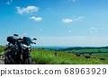 Touring bike in the ranch (Kamishihoro, Hokkaido) 68963929