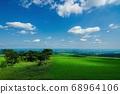 Scenery from a highland ranch (Kamishihoro Town, Hokkaido) 68964106