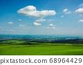 The Tokachi plain seen from the Naitai Kogen Farm (Kamishihoro Town, Hokkaido) 68964429