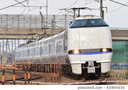 Hokuriku Main Line Kaga Kasama-Mikawa JR West Japan 683 series 4000 series (Kanazawa) Thunderbird 68964856
