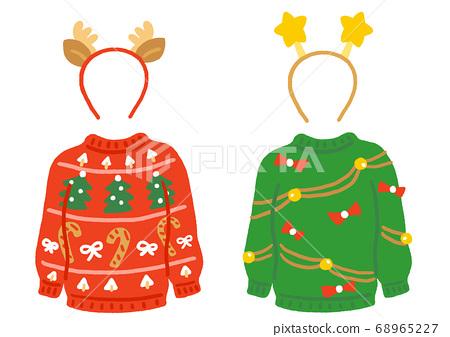 瘋狂的聖誕節毛衣和頭帶套裝 68965227