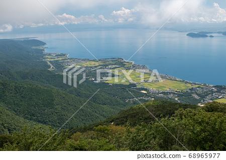 Lake Biwa and Omi Maiko seen from Mt. Horai 68965977