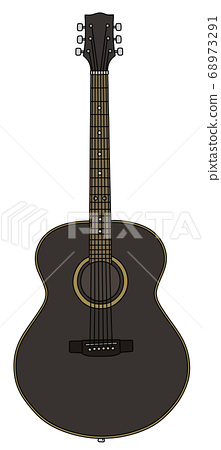 The classic black accoustic guitar 68973291