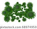 Viruses - 3d rendered 68974950